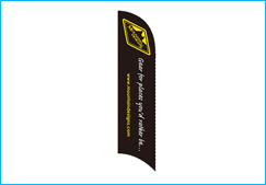 Custom feather banner