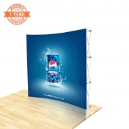 8FT Curve Pop up display kits